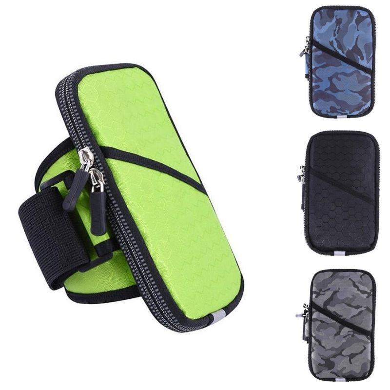 Universal Sports Armband Case Zippered Fitness Running Arm Band Bag Pouch Jogging Workout Cover bags for Mobile Phone Smartphone