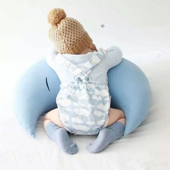 Baby Bed Set | Baby Pillow Infantil Toddler Moon Sleep Pillow For Baby Bed Toy Cute Kids Portable Bedroom Bedding Set Baby Room Decoration