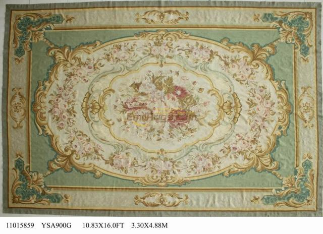How To Clean Big Living Room Rugs Armchair Wool Carpet French Aubusson 330cmx488cm 10.83'x 16 ...