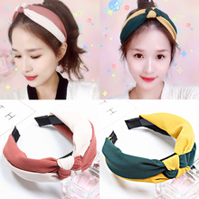 New Arrival Hairbands For Women Girls Head Bands Two colors Knitting Knotted Hair Bezel Lady Hoop Female Accessories