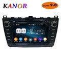 KANOR Android 9,0 4 + 32g 8 Core IPS 2din Radio del coche para Mazda 6 Ruiyi 2008 de 2009 a 2010 2011, 2012 WIFI GPS reproductor de DVD Multimedia PC