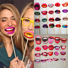 20pcs Hen party Sexy Lip Photo Booth Prop Wedding Decoration Bride to be party Supplies Bachelorette party Sexy Lips Decor Boda purple bachelorette hen party supplies hen letter glasses bride sunglasses eye decoration photo props