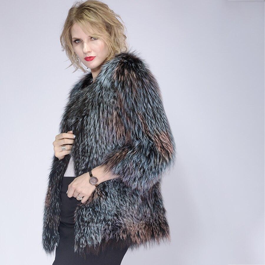 Chaud Hiver Décontracté Épais Multi Femelle Renard Manteaux 2019 De Nouveau Mince Manteau Vêtements Mode Femmes Tricoté Automne Veste Fourrure 1cWOPqE