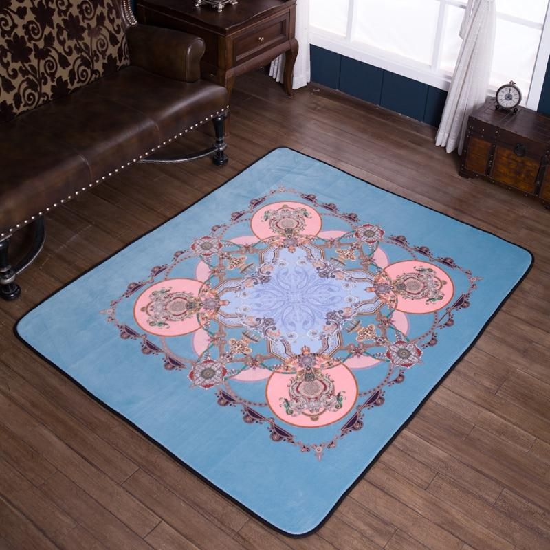 Style européen Design Star imprimé tapis anti-dérapant tapis de sol doux bébé jouer tapis pour salon intérieur chambre tapis # sw