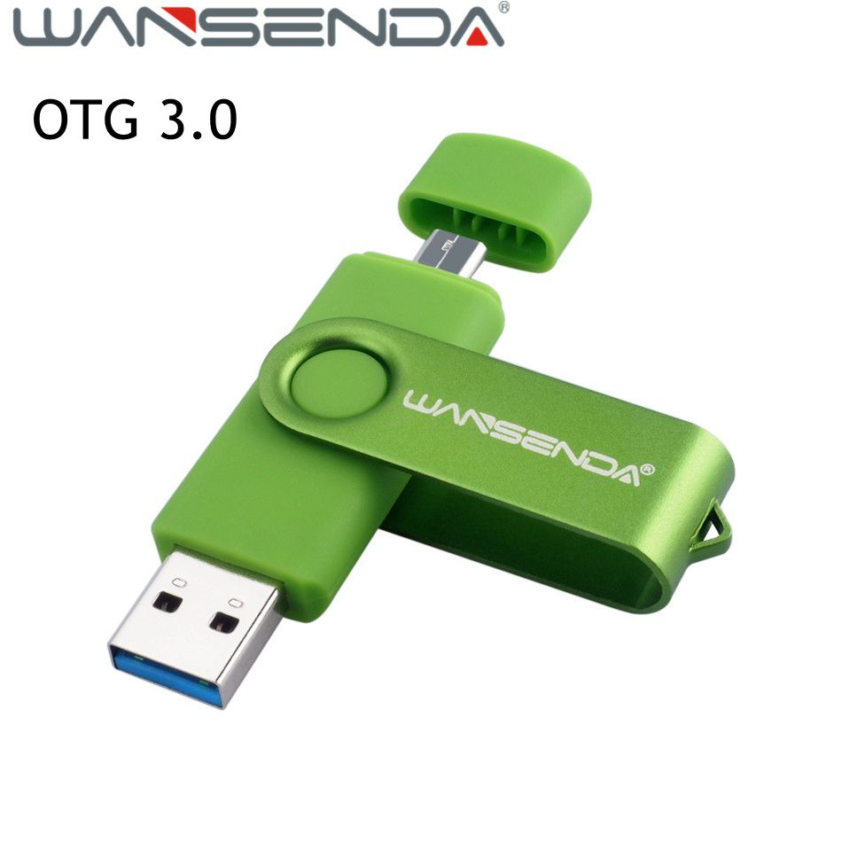 High speed Wansenda 128gb Pen drive 32gb OTG usb 3.0 USB Flash Drive 64gb pendrive 8gb 16gb Usb stick flash drive for smartphone цена и фото