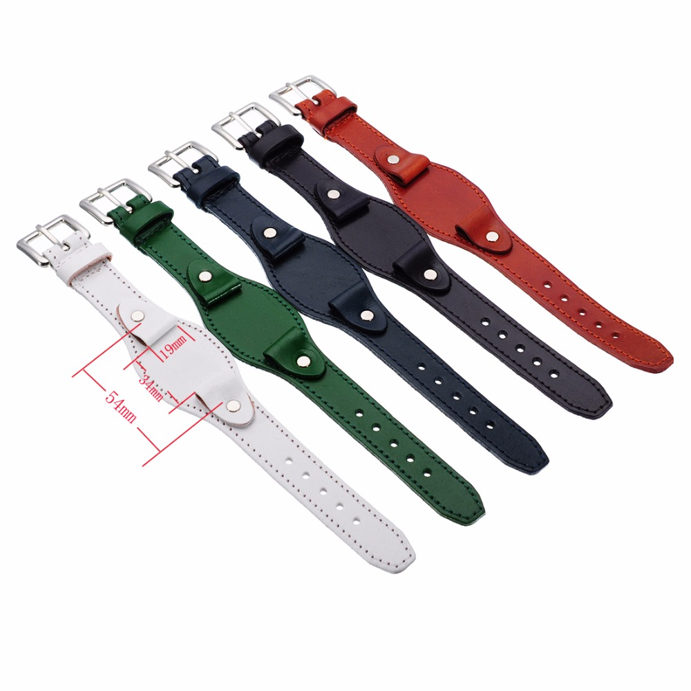 2017 New Arrival 19mm Genuine Leather Watch Band Strap For Wrist Watches Replacement for Men women