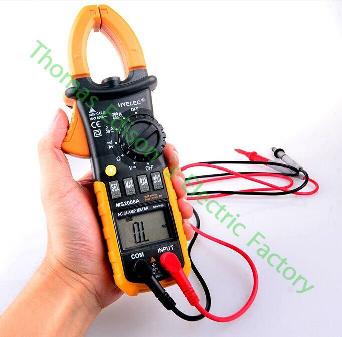 High quality MS2008A Digital Clamp Meter AC DC Current Voltage Resistance Tester high resolution digital clamp meter dt3288 ma ac and dc voltage free shipping