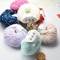 500g/Lot 10 Balls Cotton Baby Yarn for knitting yarn DIY Hand Woven Wire Crochet Baby Thread