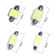 1PCS 31mm 36mm 39mm 41mm COB Festoon Car Bulb 12 Chips C5W 12V White Color LED Bulb Dome Light(China)