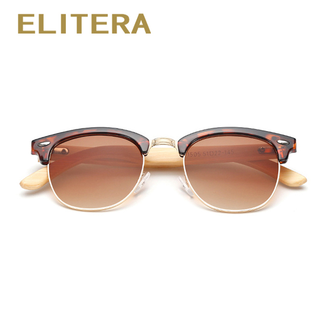 ELITERA Retro Bamboo Wood Sunglasses Men Women Brand Designer Sport Goggles Mirror Sun Glasses Shades lunette oculos de sol