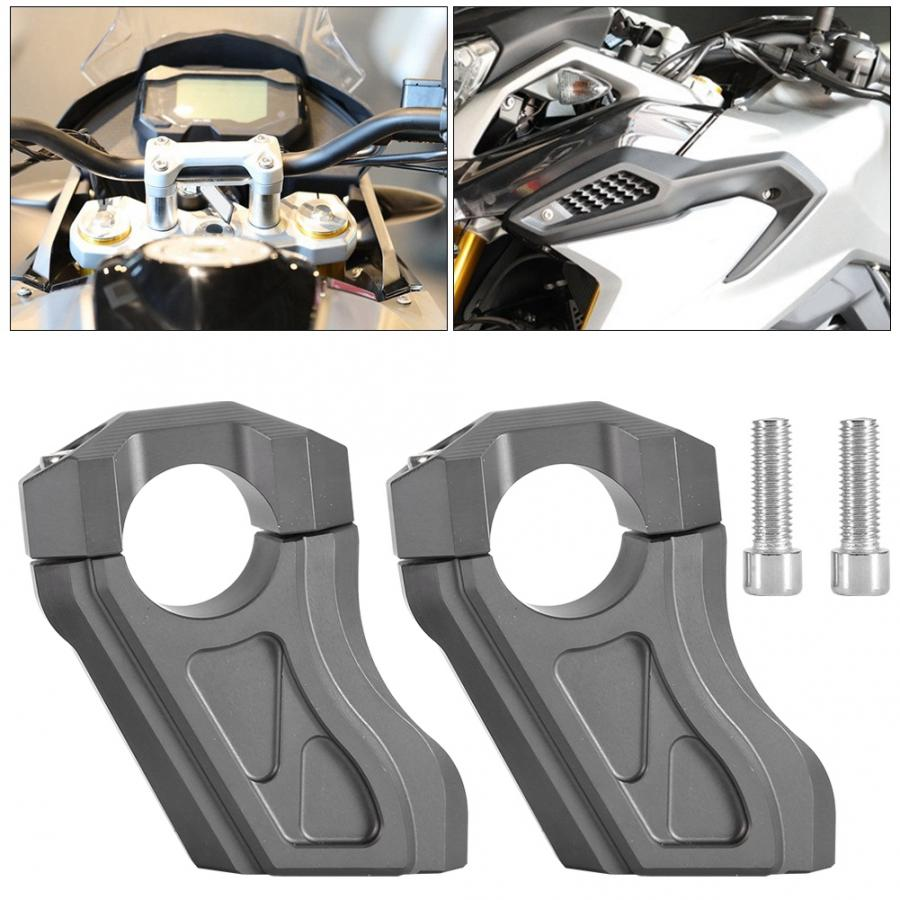 2Pcs Motorcycle Handlebar Clamp Handle Bar Riser Mount Adapter for R NINET 2014 2017 Aluminum Alloy-in Handlebar from Automobiles & Motorcycles    2
