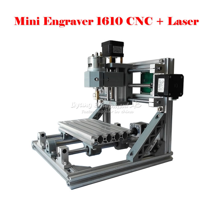 Russia no tax Mini CNC 1610 + 500mw laser CNC engraving machine diy lathe with GRBL control eur free tax cnc 6040z frame of engraving and milling machine for diy cnc router
