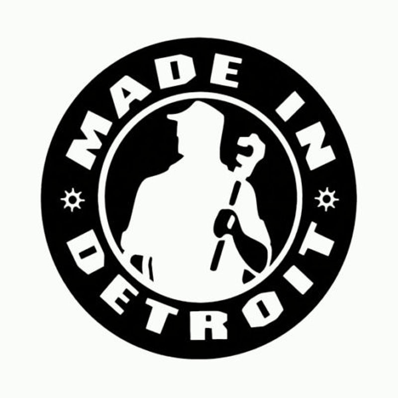 12.7CM*12.7CM Made in Detroit Decal Kid Rock Michigan Made Reflective Car Stickers For Car-Styling Motorcycle Decoration C8-0519