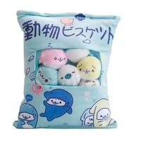 ins A bag Kawaii Seal plush Sale 8pcs cute sleeping pillow doll soft stuffed toys for girlfriend Children birthday love gift
