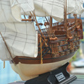 "Gifts & Decor 32"" H.M.S VICTORY sailing boat Detailed Wooden Model Nautical Decor via EMS shipping."