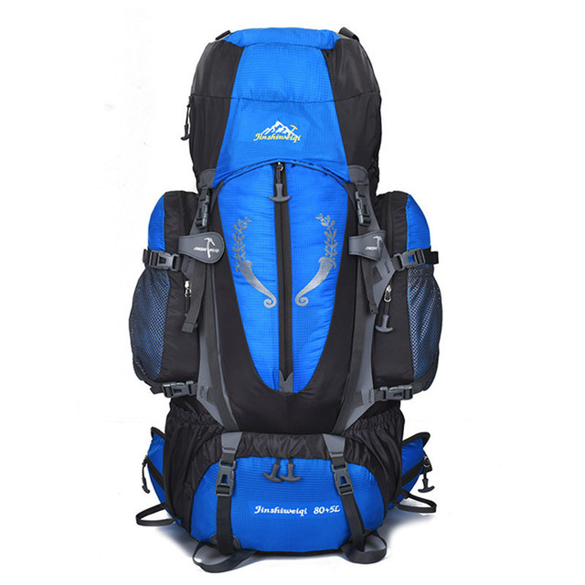 6e7404c5455 US $57.63 39% OFF|80+5L Outdoor Large Backpack Waterproof Bags Travel Multi  purpose Climbing Backpacks Hiking Rucksacks Camping Skiing Sports Bags-in  ...
