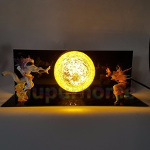 Dragon Ball Z Son Goku VS Freeza Led Night Lights Table Lamp Anime DBZ Christmas Decor