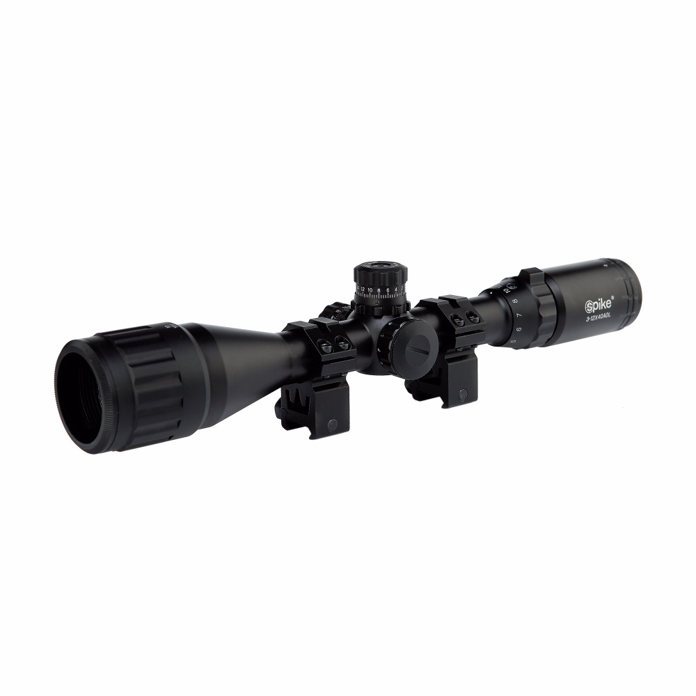 3-12X40AOL Hunting Riflescopes Green Red Dot Illuminated Reticle Sight Scope Tactical Airsoft Guns Scopes Holographic Sight 4 16 40mm aol green lens film sight hunt telescope red green illuminated new