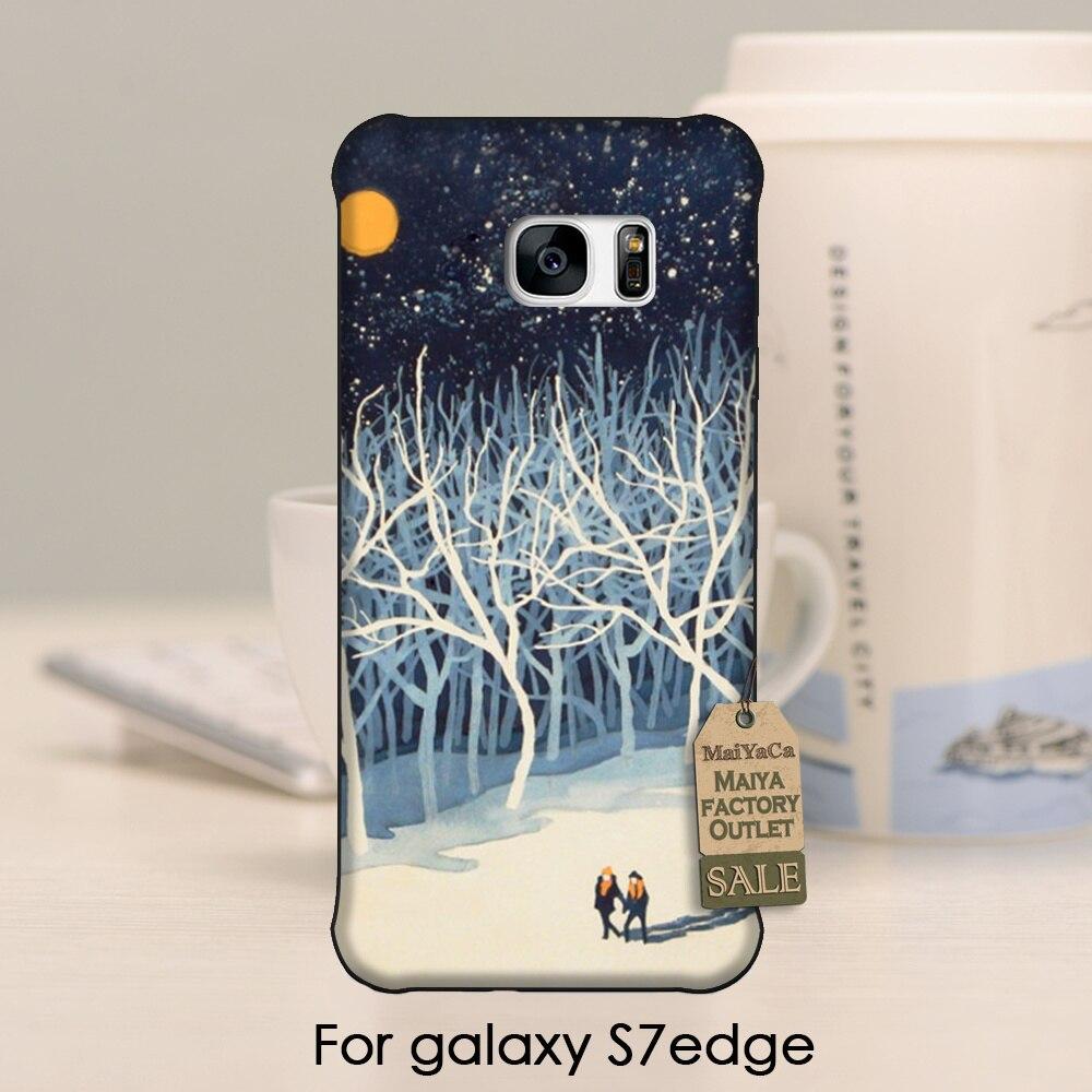 Maiyaca очаровательны Цветной рисунок Жесткий Телефон Интимные аксессуары ботанический сад в груди древесины для Samsung Galaxy S7 Edge чехол