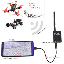 Upgrated FPV Receiver Mini OTG 5.8G 150CH Mini FPV Receiver UVC Video Downlink OTG VR Android Phone