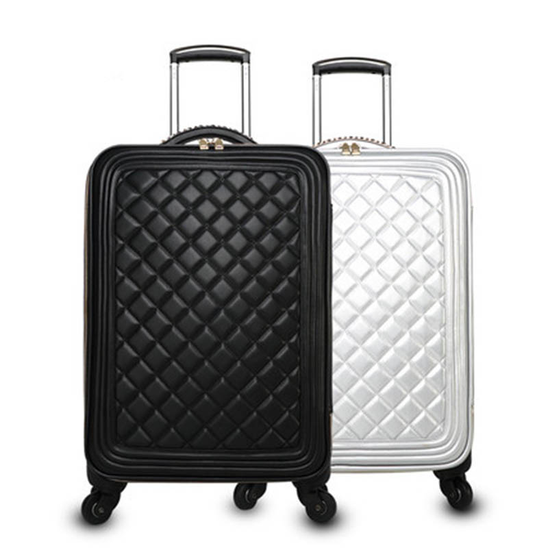 BeaSumore Retro Men PU Leather Rolling Luggage Sets spinner High capacity Trolley Women Suitcase Wheels 16