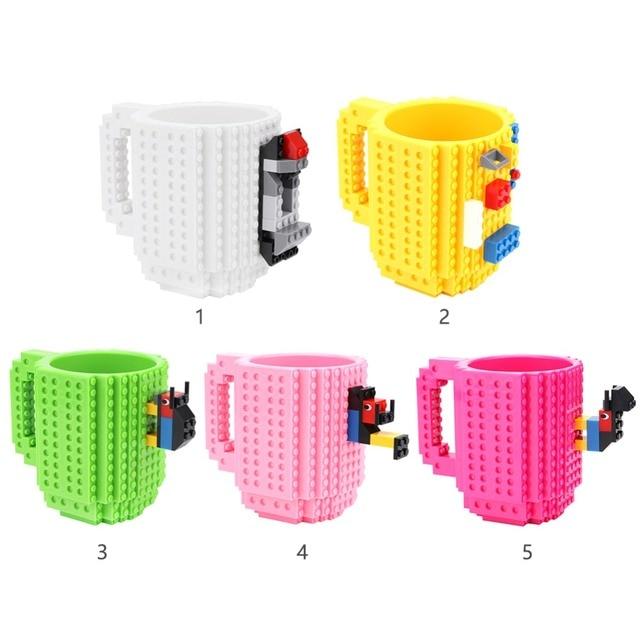 350ml Milk Mug Coffee Cup Creative Build-on Brick Mug Cups Drinking Water Holder for LEGO Building Blocks Design 5