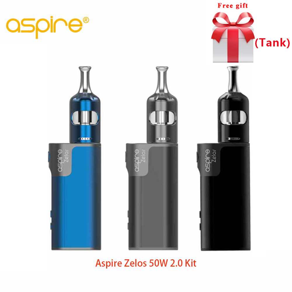 Free tank Original Aspire Zelos 50W 2 0 Kit MTL with Nautilus 2S tank 2 6ml