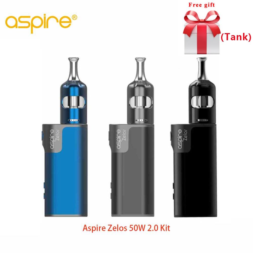 Free tank Original Aspire Zelos 50W 2.0 Kit MTL with Nautilus 2S tank 2.6ml/2ml Adjustable Airflow Top-fill E-cig Vape Kit