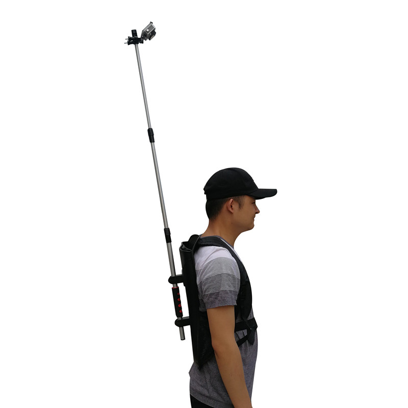 3rd Person View Mount - Wearable Handsfree Backpack Body-Mounted POV Camera Selfie Stick Pole For Gopro Action Camera