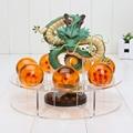 Dragonball figuras de Dragon ball z figuras de ação brinquedo Novo 1 figura dragão shenlong + 7 bolas de cristal 4 cm + 1 prateleira de brinquedos