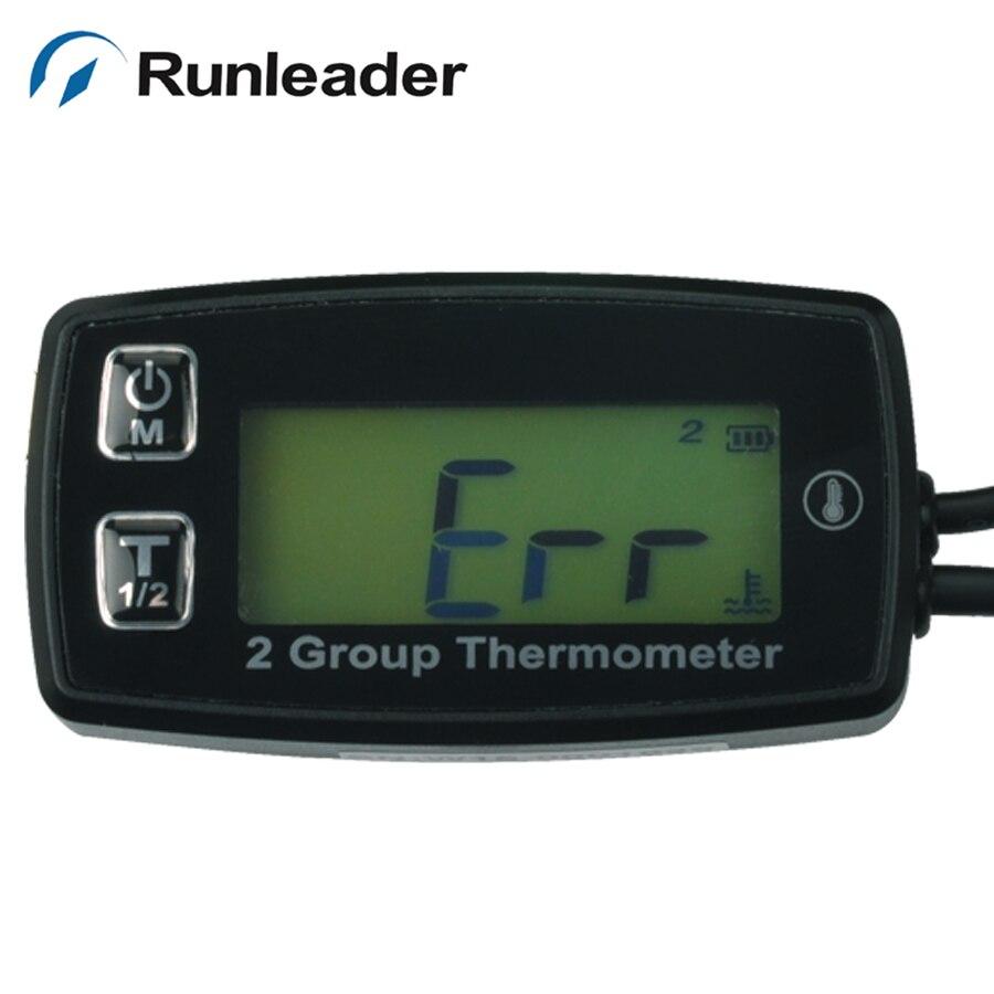 TS002 PT100 20 300 2 temp sensor Digital backlight TEMP meter temperature thermometer for motorcycle paramotor