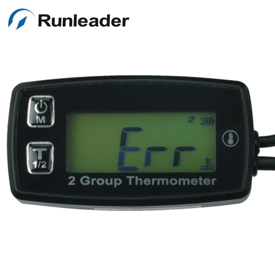 TS002 PT100 -20 +300 2 temp sensor Digital backlight TEMP meter temperature thermometer for motorcycle paramotor buggy MARINE