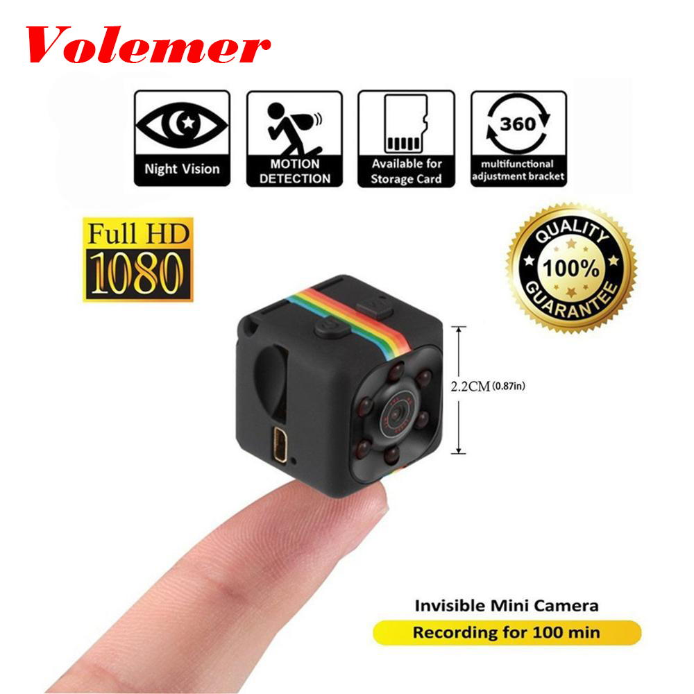 Volemer Mini Camera SQ11 1080P Sport DV Mini Infrared Night Vision Monitor Concealed Camera Car DV Digital Video Recorder PK C1