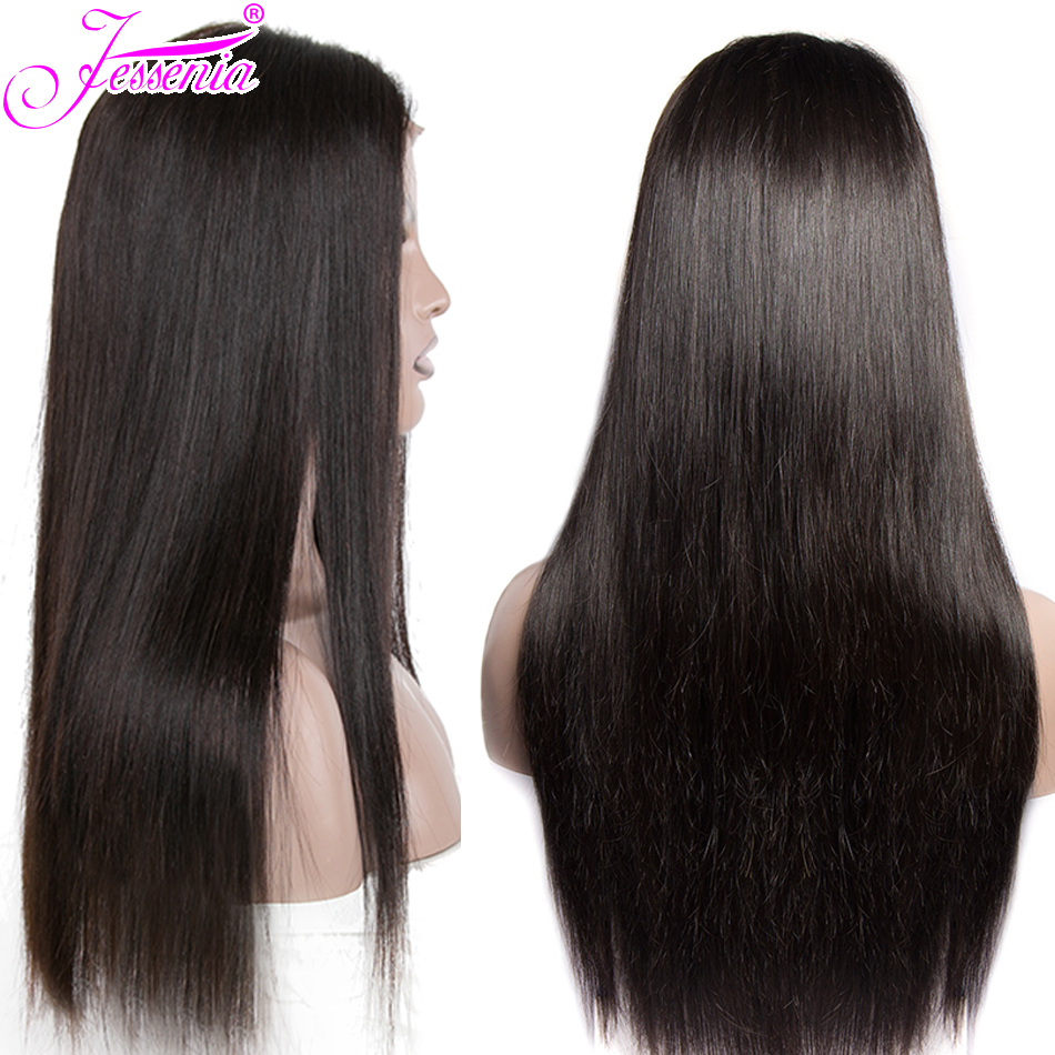 Brazilian Hair Straight Wigs 13*4 Lace Front Human Hair Wigs With Baby Hair Pre Plucked Natural Hairline Remy Hair