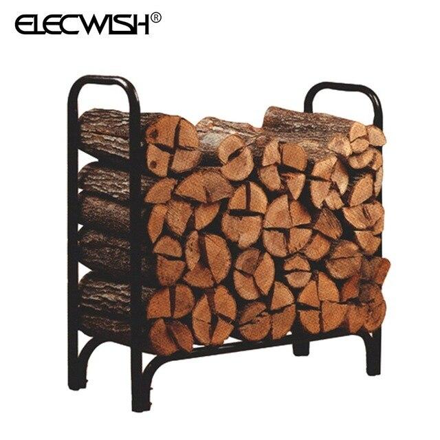 4 Ft Firewood Rack Log Holder Wood Storage Outdoor Steel Carrier Heavy Duty Metal  Rack Log