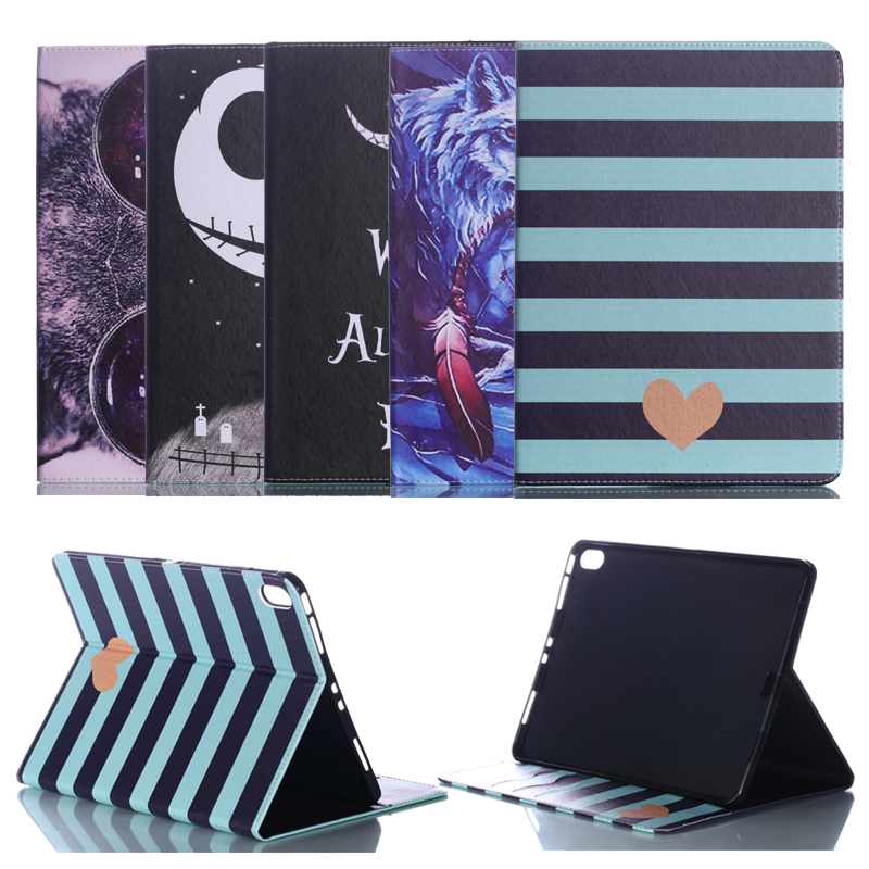 Tablet Painted PU Leather Case for Apple iPad Pro 10 5 quot Smart Cover for iPad Pro 10 5 Cartoon Pattern Flip Stand Shell Fundas in Tablets amp e Books Case from Computer amp Office