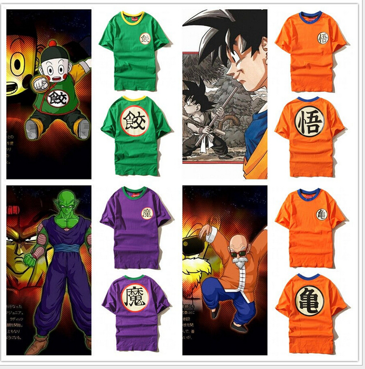 Dragon Ball Z Dbz Son Goku Uniform Anime Kame Symbol Costume Tshirt