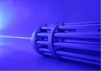 High Power Blue Laser Pointer 500000m 450nm Lazer Flashlight Focus Burning Match/Dry Wood/Black/Burn Cigarettes+5 Cap+Gift