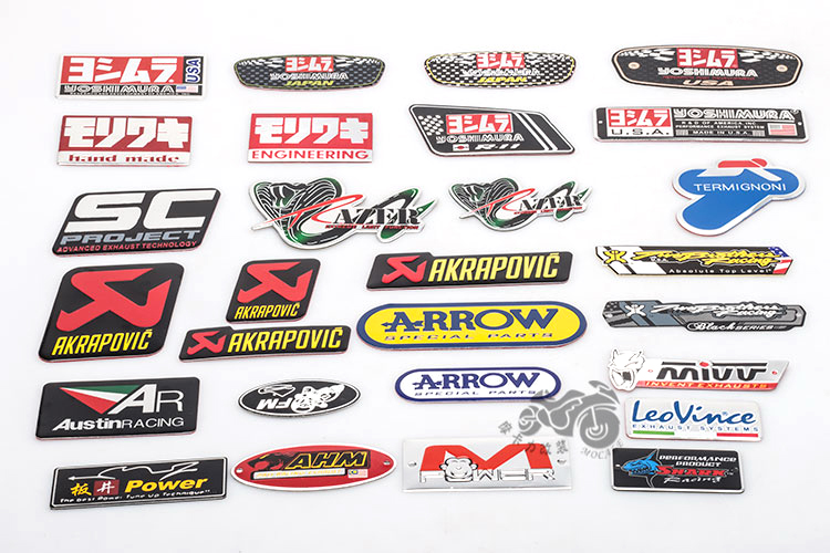 <font><b>Motorcycle</b></font> akrapovic <font><b>Exhaust</b></font> Scooter Muffler pipe sticker accessories <font><b>sc</b></font> ar tubo escape moto protector mivv cbr yzf ttr 3m alloy image