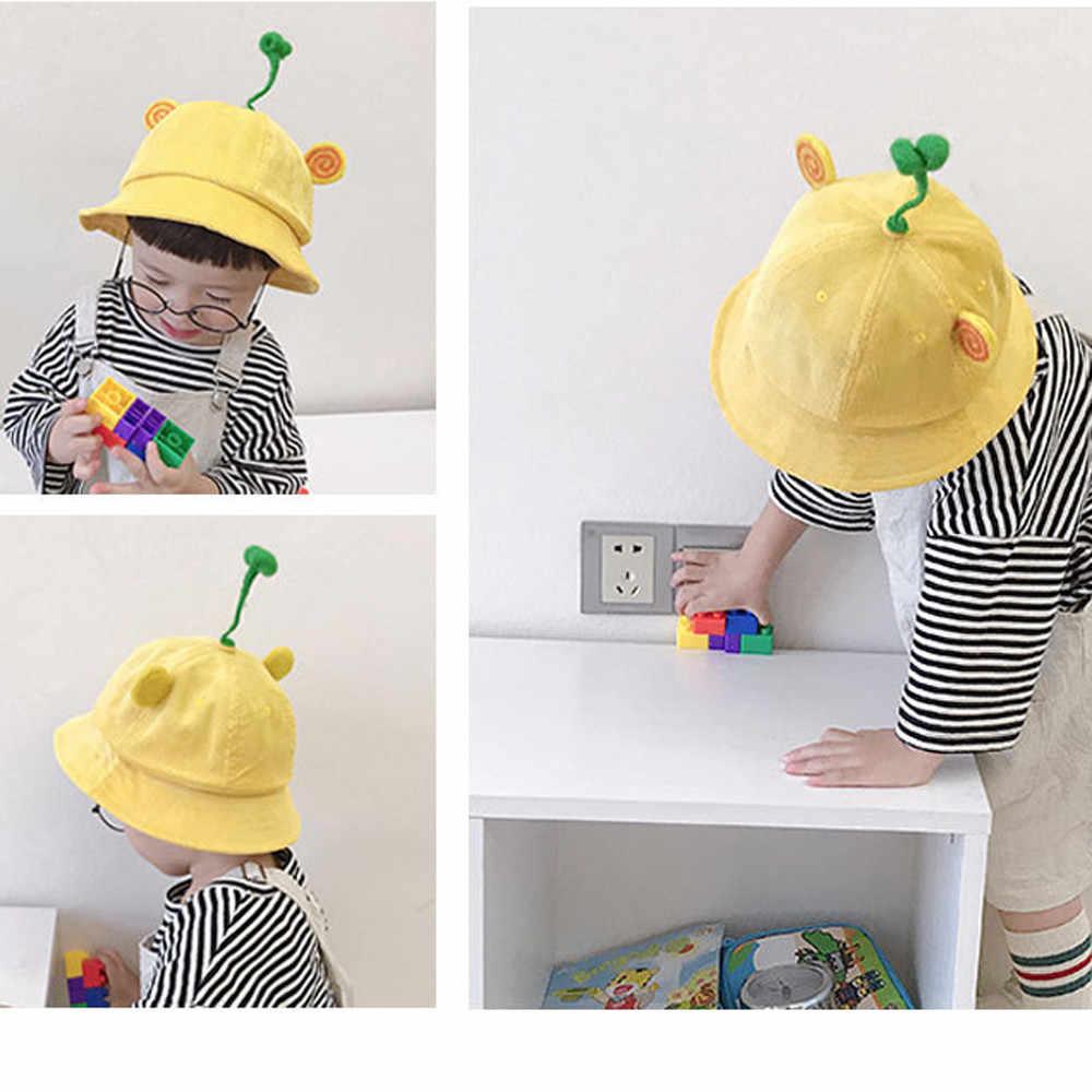 f8b1fad4 3-4 Year Old Baby Fisherman Hat Sunshade Sun Protection Yellow Cap 11.8