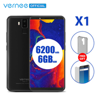 Vernee X1 4G Mobile Phone 6.0 inch 18:9 FHD 6GB RAM 64GB ROM Android 7.1 Octa Core 16MP Four Cameras 9V 2A Quick Charge Face ID