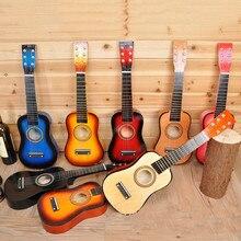 """HOT SALE 23 """"Gitar Mini Gitar Basswood Kid Mainan Musik Akustik Senar Instrumen dengan Plectrum Hadiah Ulang Tahun untuk Anak-anak"""