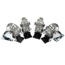 4 قطعة من البلاستيك المسطح الشفاف 2 بوصة عجلة العجلات الثقيلة مع الفرامل لكرسي مكتب عجلات دوارة