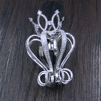 New Princess Crown Bride Headdress Crown Children S Girls Plate Hair Ornaments Korean Zircon Hair Hoop