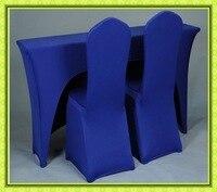 זול סיטונאי! סטרץ הכחול מלבן שולחן לאירועים משלוח חינם