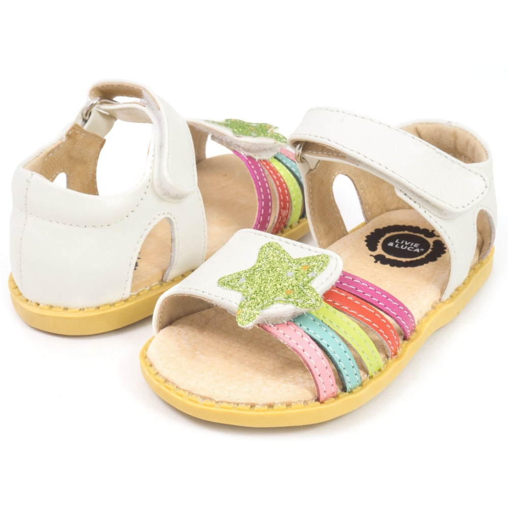 Livie & Luca New Fashion Children Shoes Toddler Girls Sandals Kids Boys Genuine Leather Closed Toes Free Shipping
