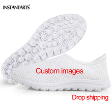 c1d6ded90e07 INSTANTARTS Fashion Men Customized Your Own Image Casual Shoes Leisure Male  Mesh Flats Shoes Drop Shipping