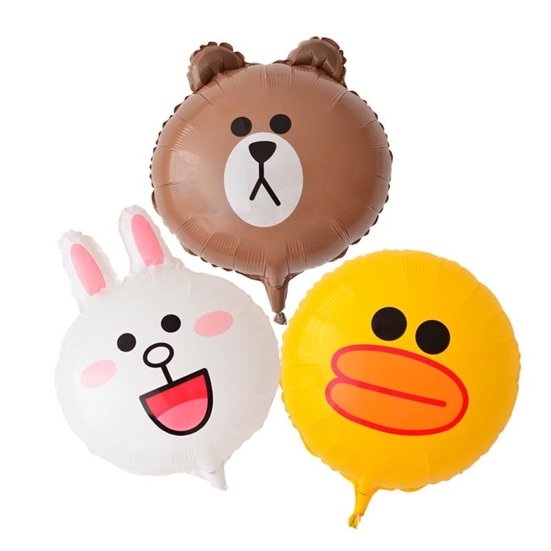 Большой пластиковый воздушный шар ZOCDOU, 1 шт., 16 дюймов, с мультяшным рисунком, медведя, кролика, утки, друга, вечерние шарики Globo, детский балон на день рождения-2