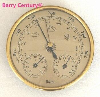 جودة الدقة اللاسائلية 128 ملليمتر 3 في 1 بارومتر مع ميزان الحرارة و رطوبة جهاز اختبار الرطوبة متر في الهواء الطلق الصيد