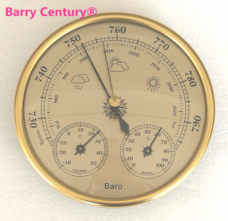 Quality Precision Aneroid 128mm 3 In 1 Barometer With Thermometer And Hygrometer Humidity Tester Meter Outdoor Fishing